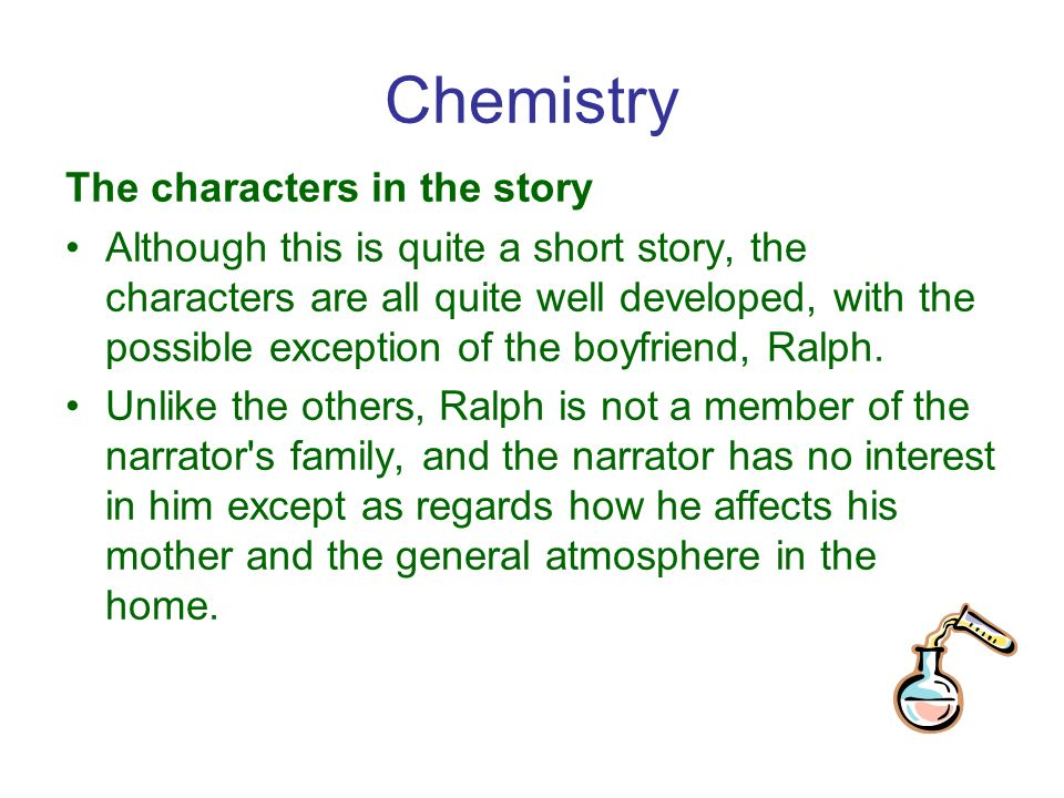 chemistry written by graham swift essay Disclaimer: this work has been submitted by a student this is not an example of the work written by our professional academic writers you can view samples of our professional work here any opinions, findings, conclusions or recommendations expressed in this material are those of the authors and do not necessarily reflect the views of uk essays.