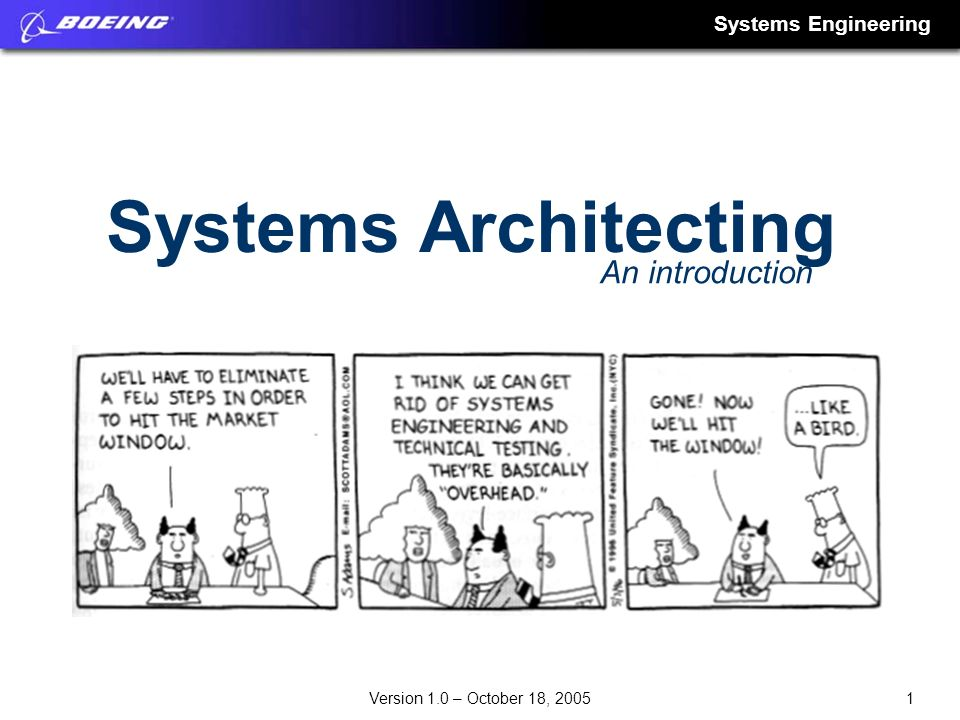 Systems Architecting An introduction