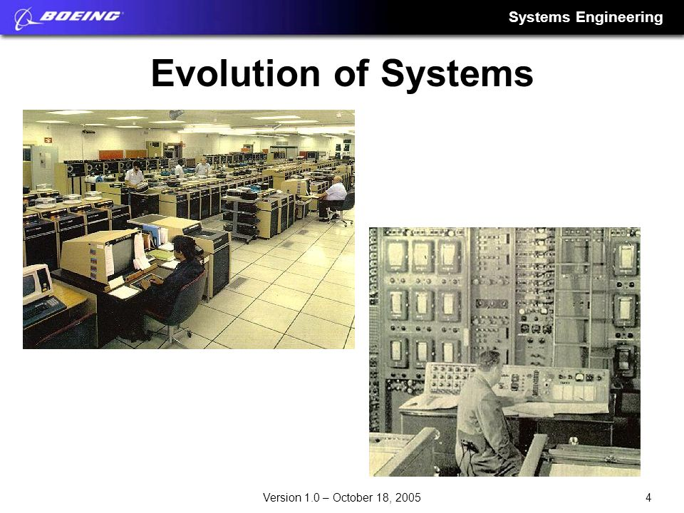 Evolution of Systems