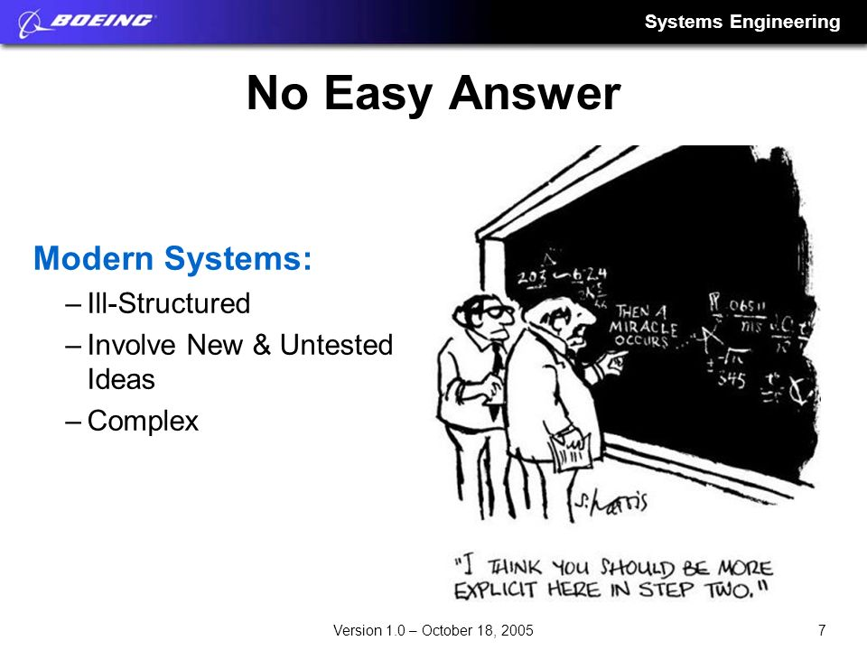 No Easy Answer Modern Systems: Ill-Structured