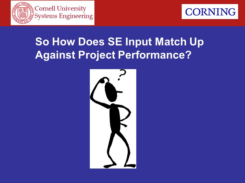 So How Does SE Input Match Up Against Project Performance