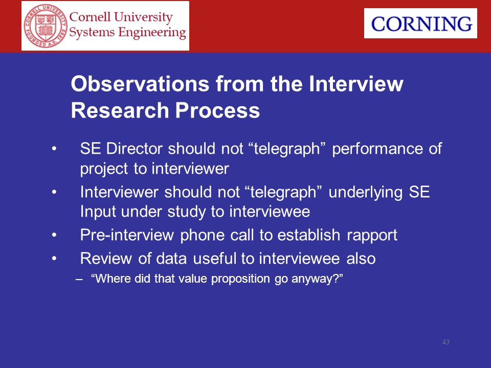 Observations from the Interview Research Process