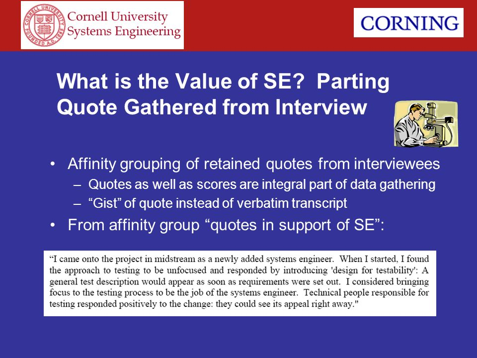 What is the Value of SE Parting Quote Gathered from Interview