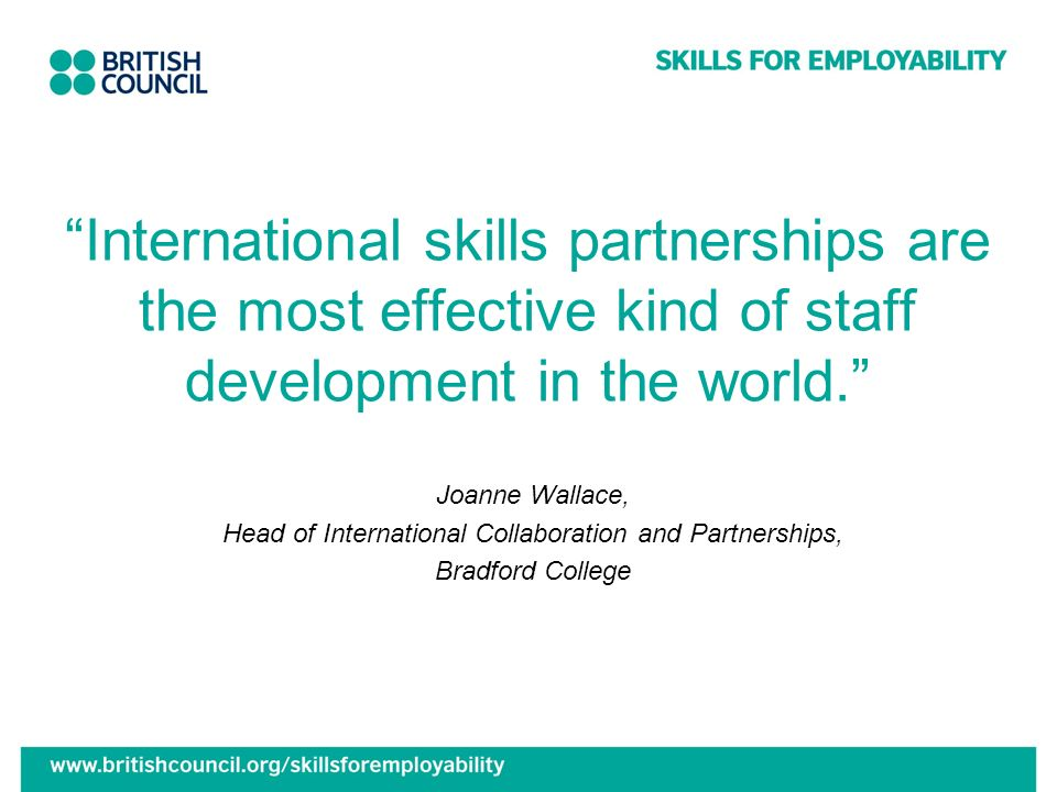 Head of International Collaboration and Partnerships,