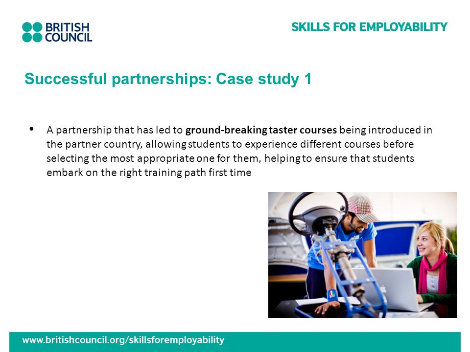 Successful partnerships: Case study 1