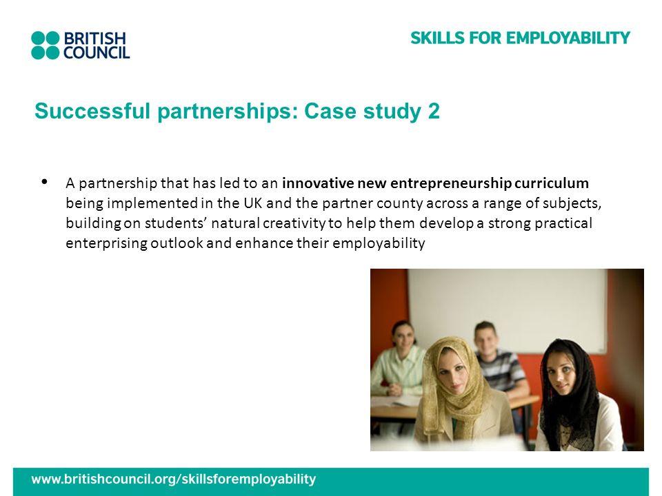 Successful partnerships: Case study 2
