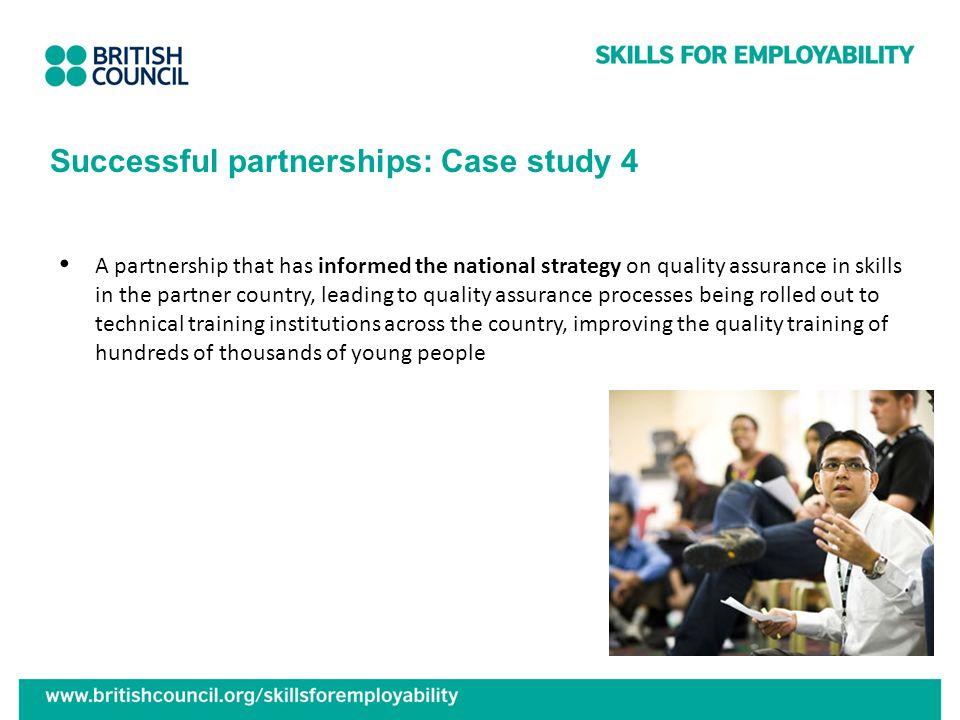 Successful partnerships: Case study 4