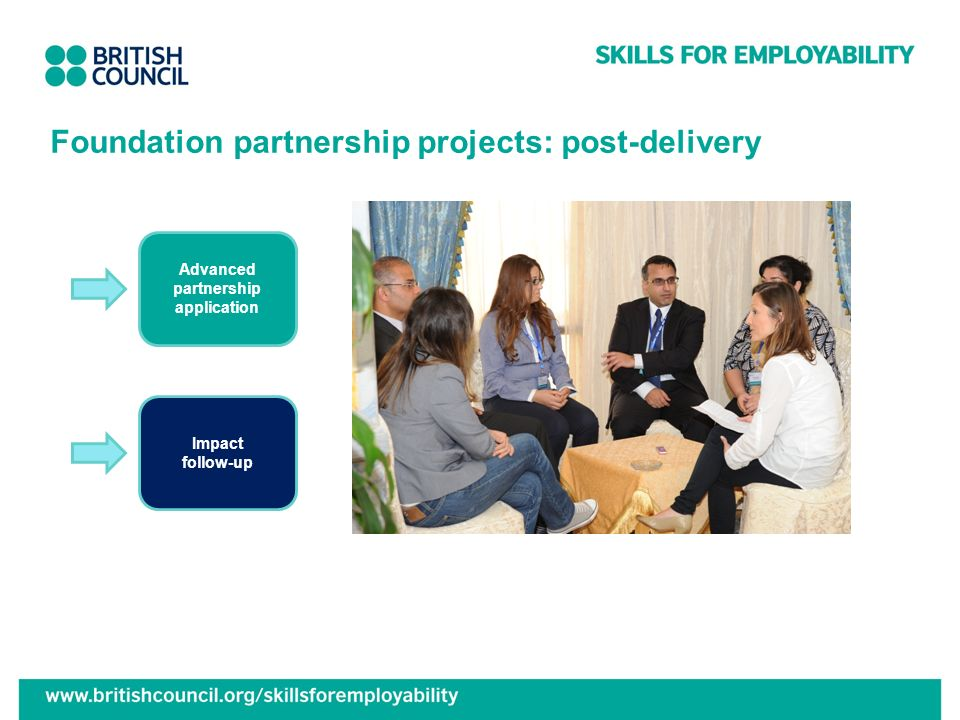 Foundation partnership projects: post-delivery