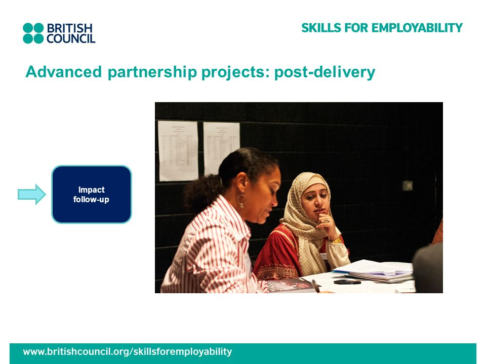 Advanced partnership projects: post-delivery