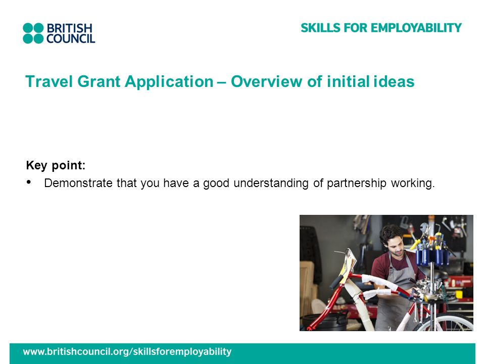 Travel Grant Application – Overview of initial ideas