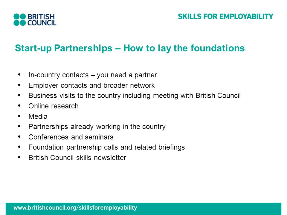 Start-up Partnerships – How to lay the foundations