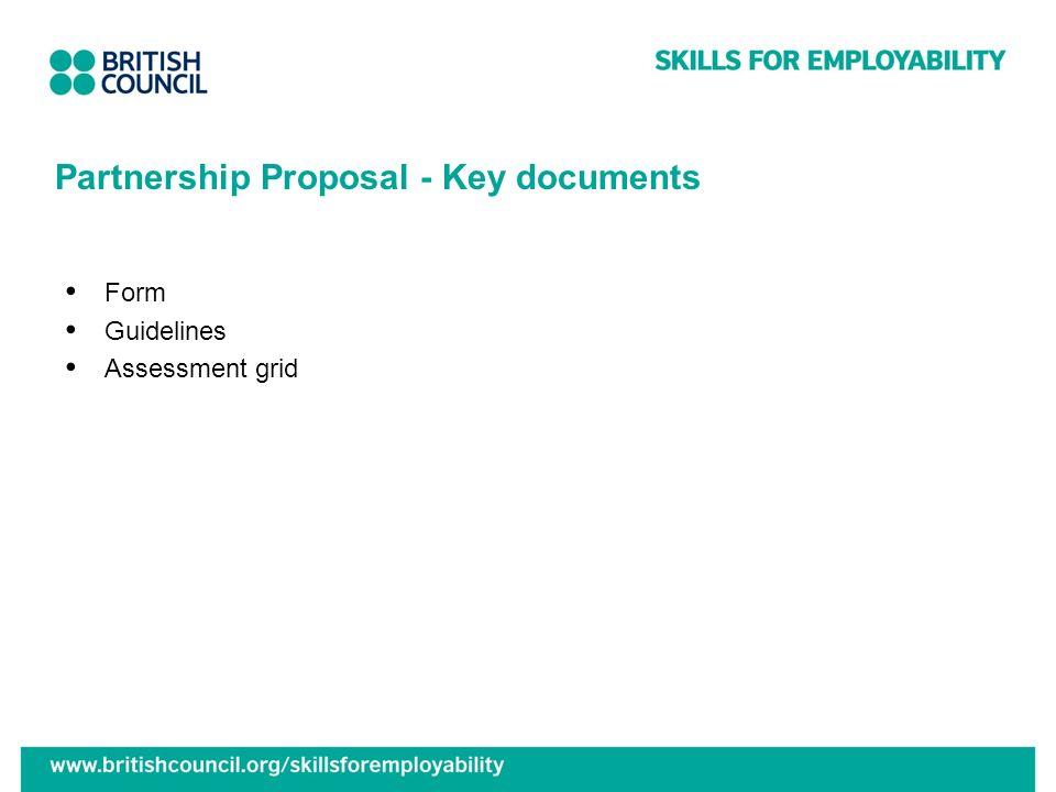 Partnership Proposal - Key documents