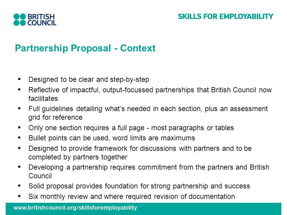 Partnership Proposal - Context