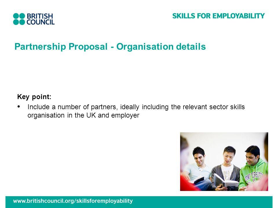 Partnership Proposal - Organisation details