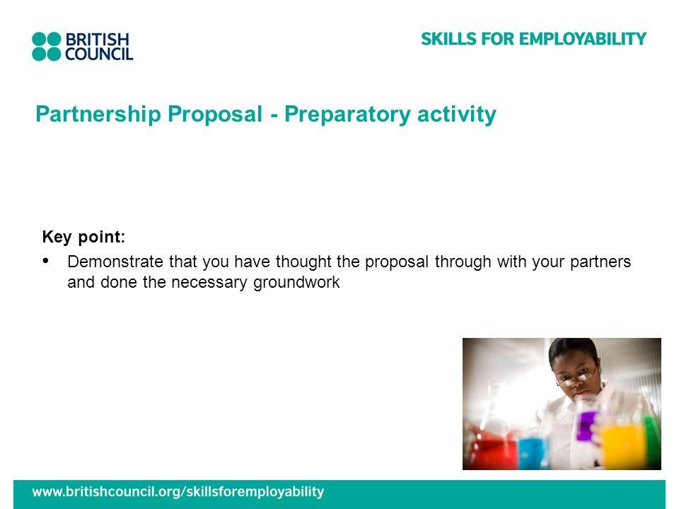 Partnership Proposal - Preparatory activity