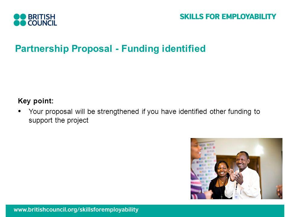 Partnership Proposal - Funding identified