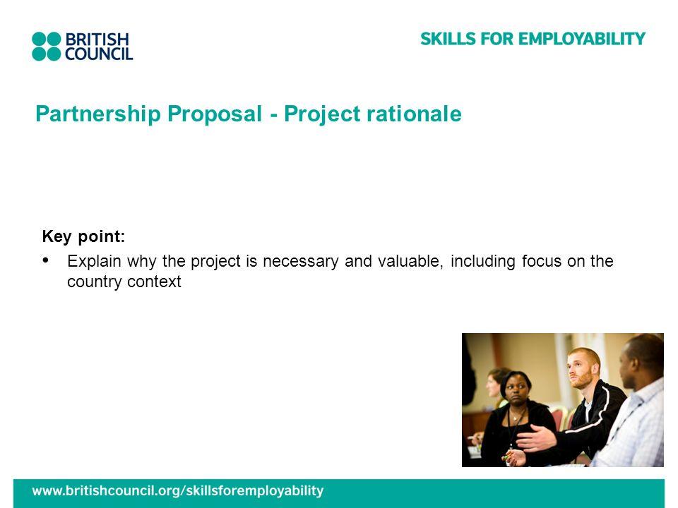 Partnership Proposal - Project rationale