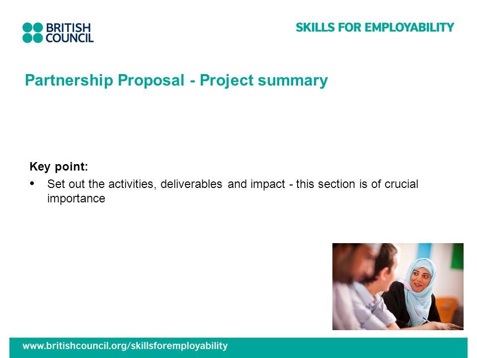 Partnership Proposal - Project summary