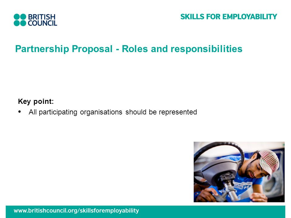 Partnership Proposal - Roles and responsibilities