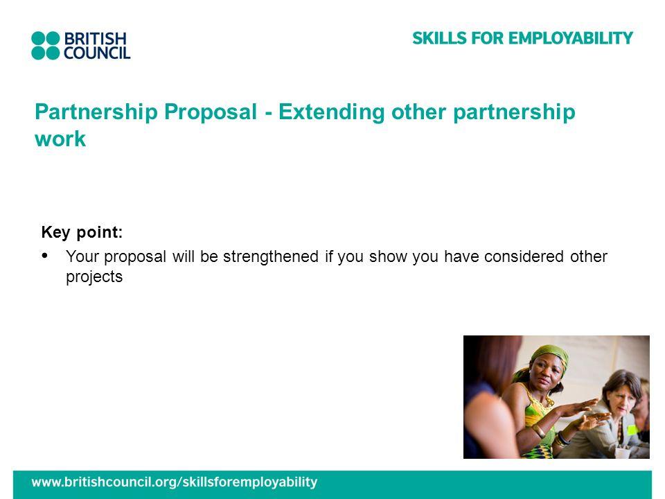 Partnership Proposal - Extending other partnership work