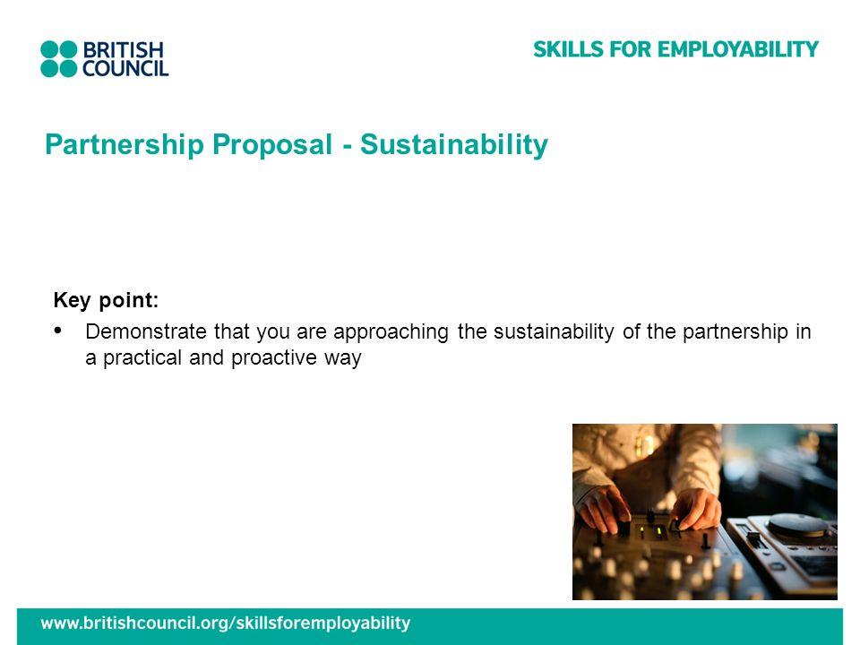 Partnership Proposal - Sustainability