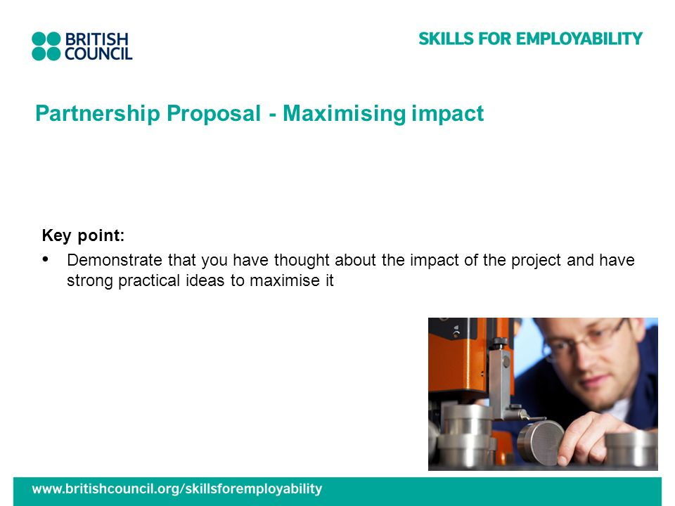 Partnership Proposal - Maximising impact