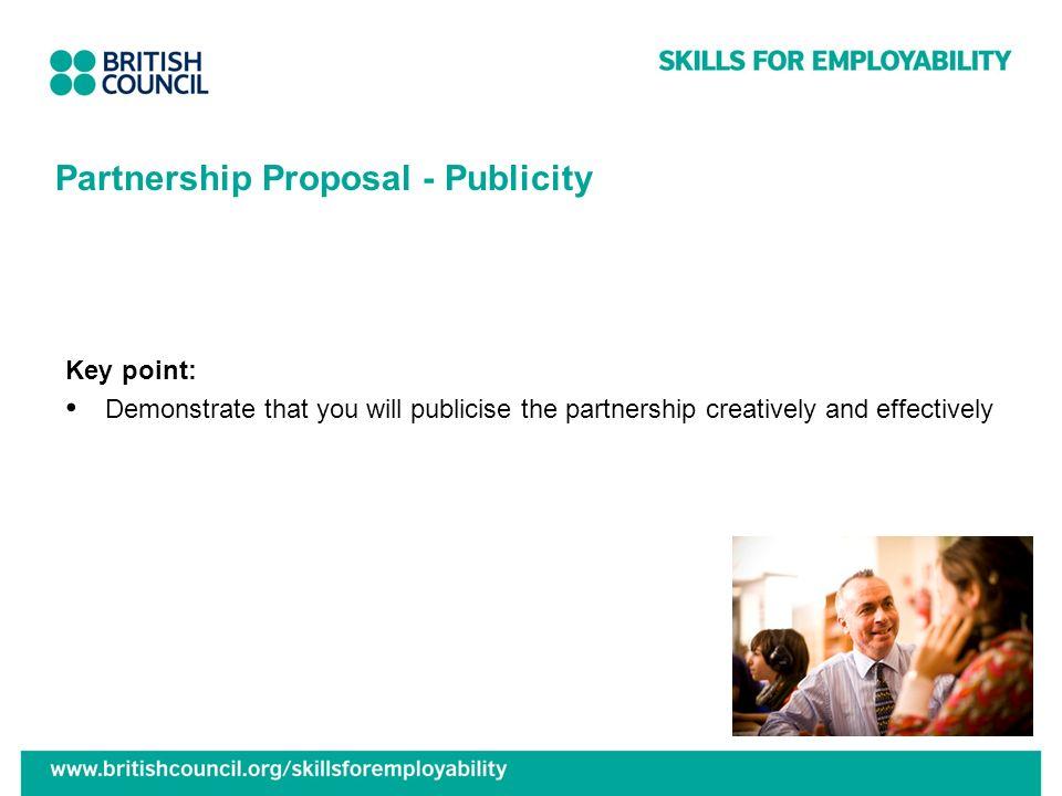 Partnership Proposal - Publicity