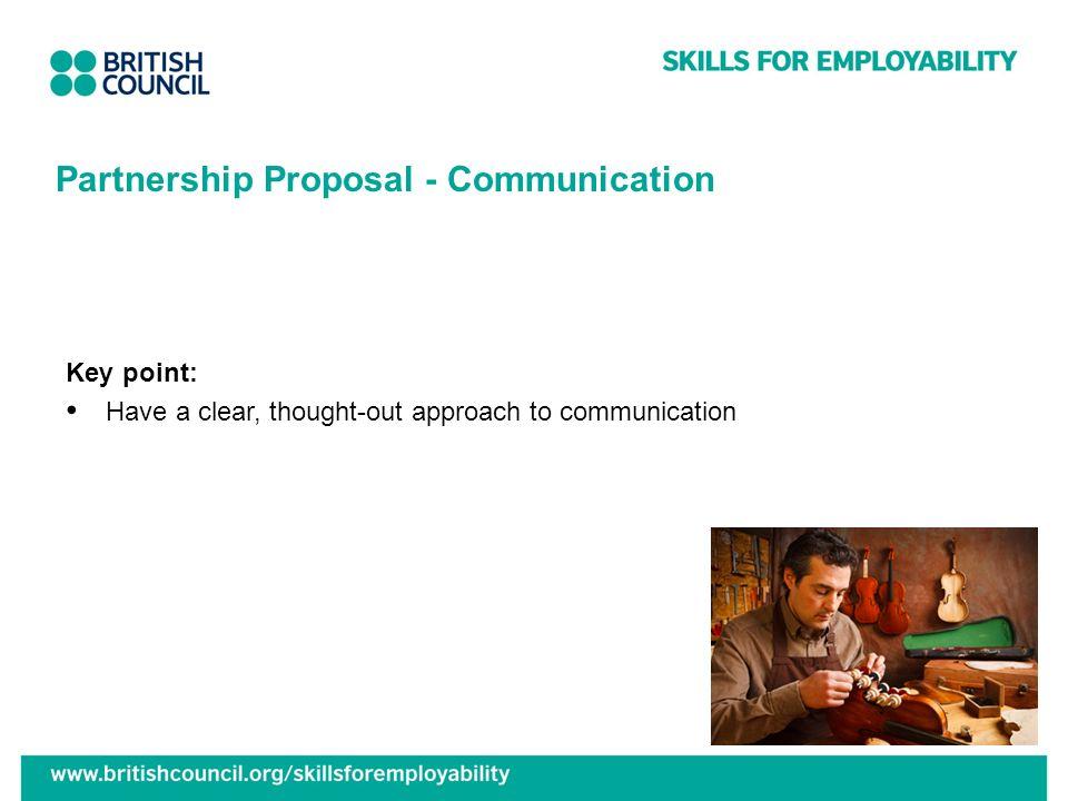 Partnership Proposal - Communication