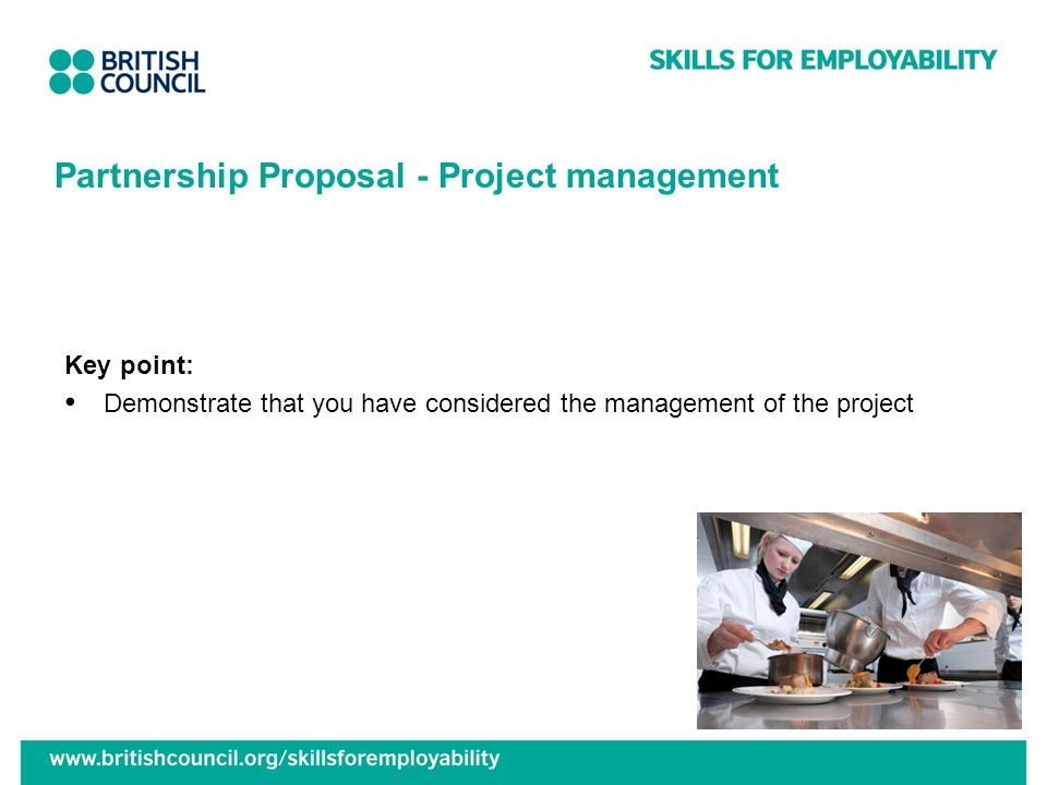 Partnership Proposal - Project management