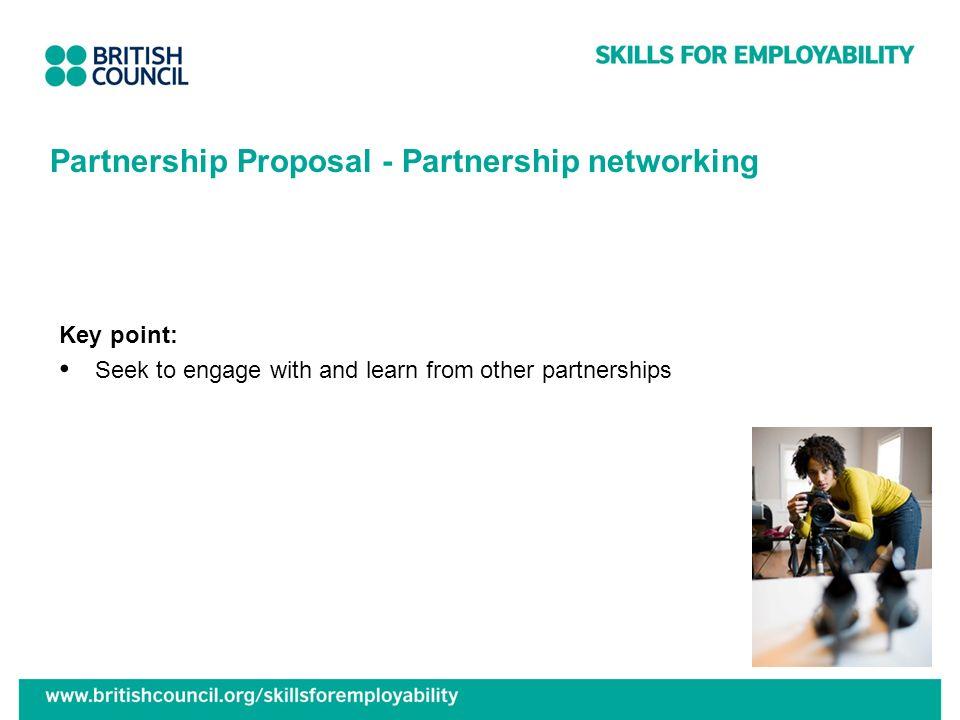 Partnership Proposal - Partnership networking