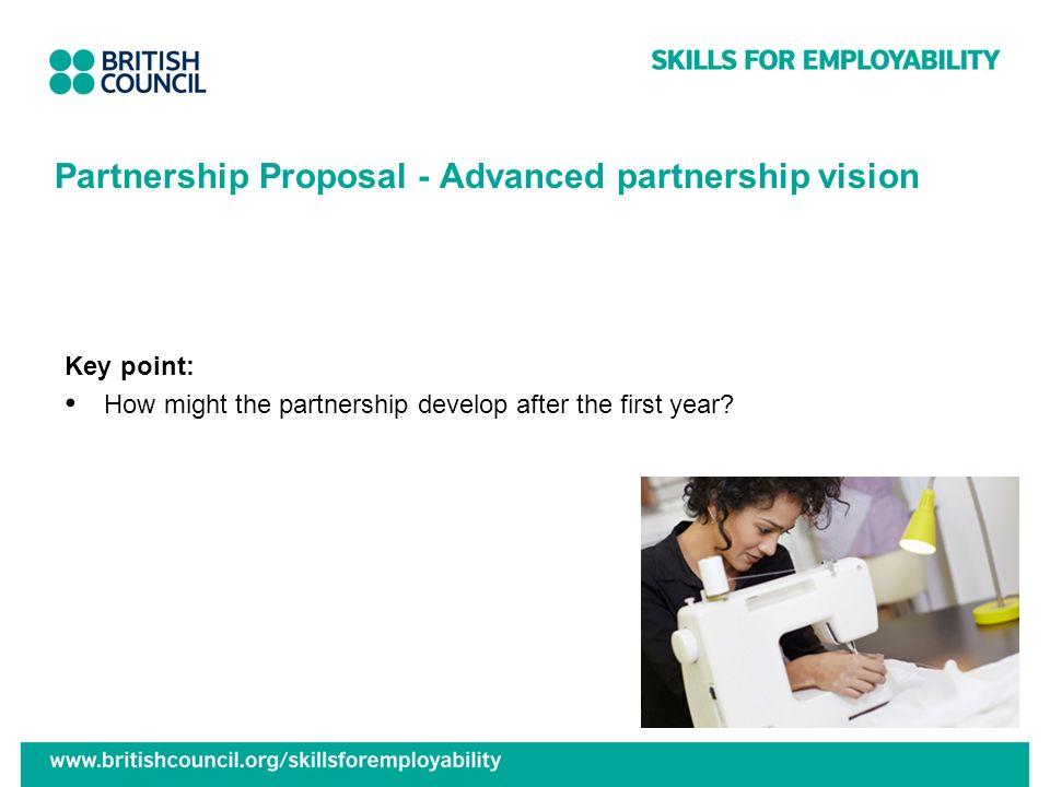 Partnership Proposal - Advanced partnership vision