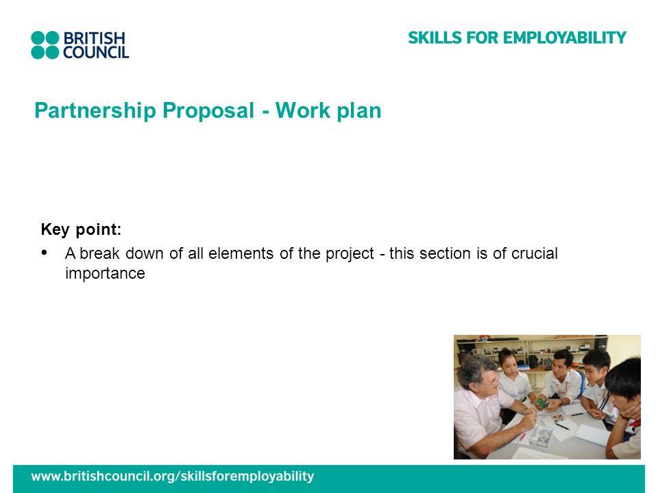 Partnership Proposal - Work plan
