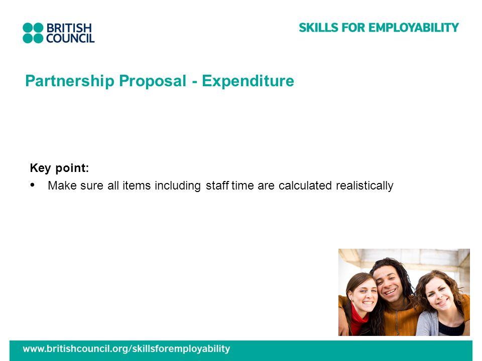 Partnership Proposal - Expenditure