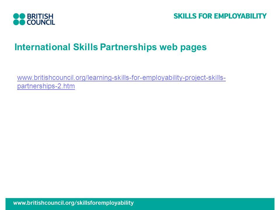 International Skills Partnerships web pages