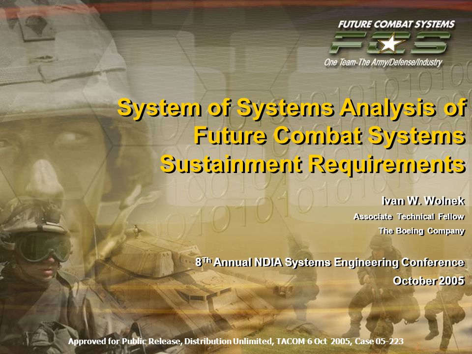 System of Systems Analysis of Future Combat Systems Sustainment Requirements