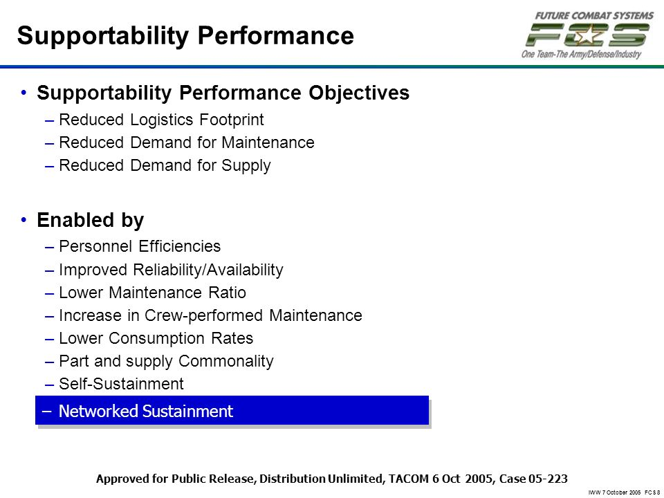 Supportability Performance