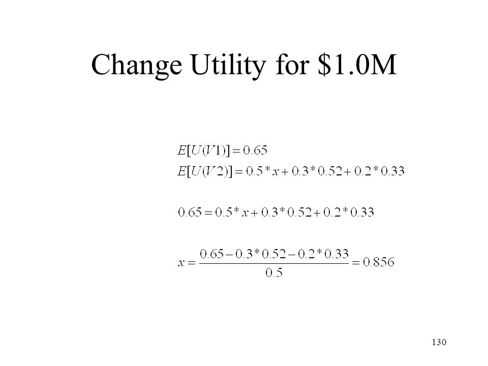 Change Utility for $1.0M