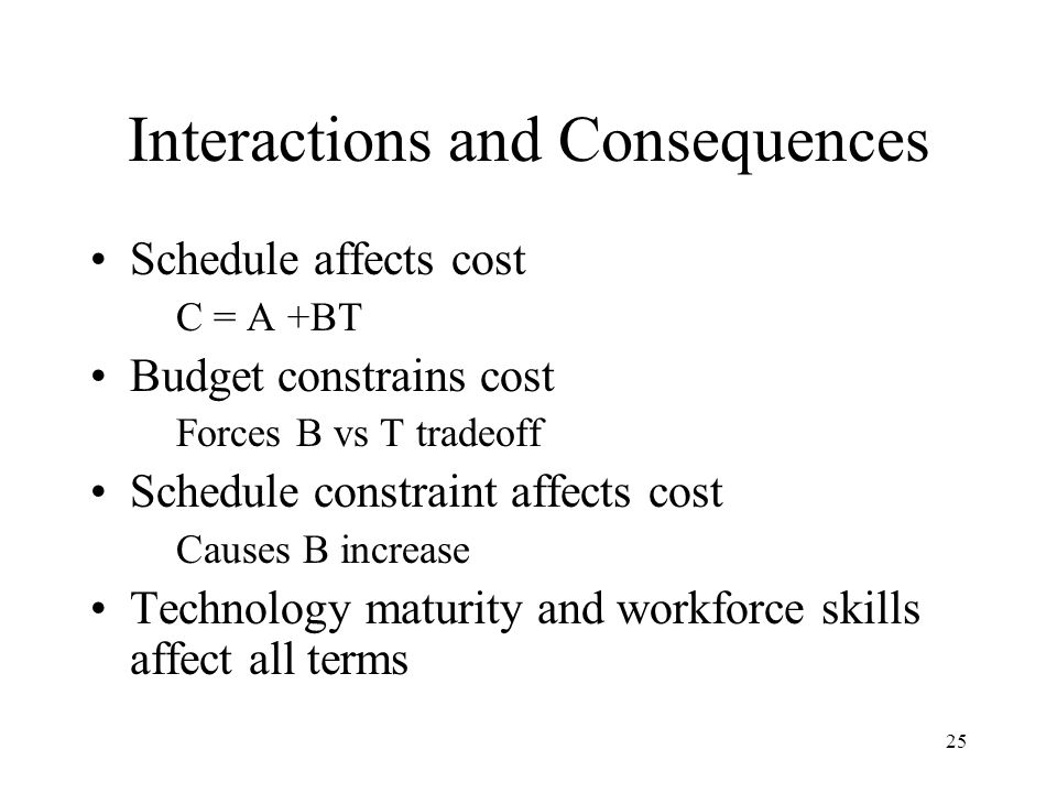 Interactions and Consequences