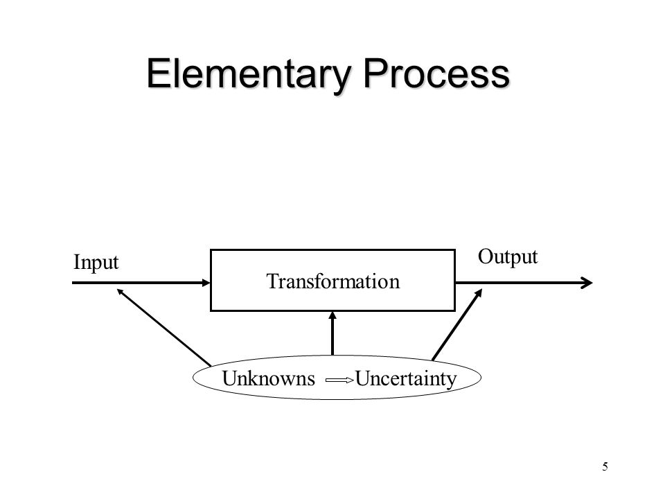Elementary Process Output Input Transformation Unknowns Uncertainty