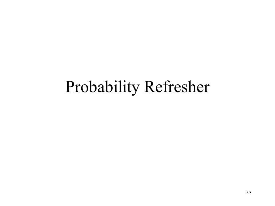 Probability Refresher