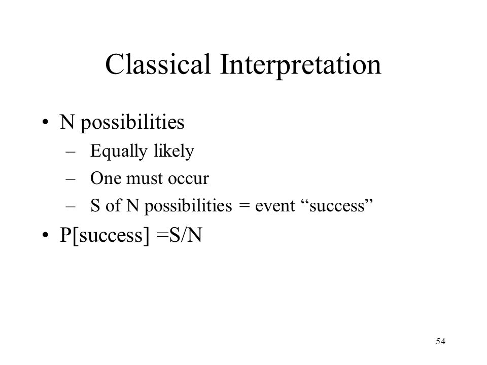 Classical Interpretation