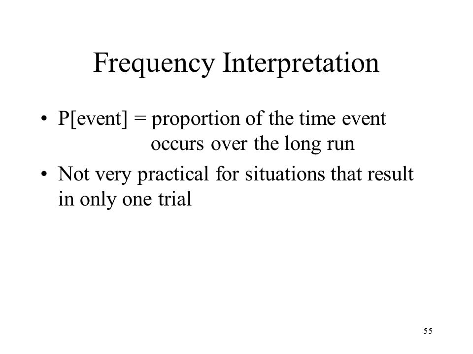 Frequency Interpretation