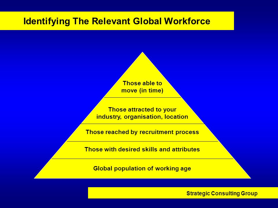 Identifying The Relevant Global Workforce