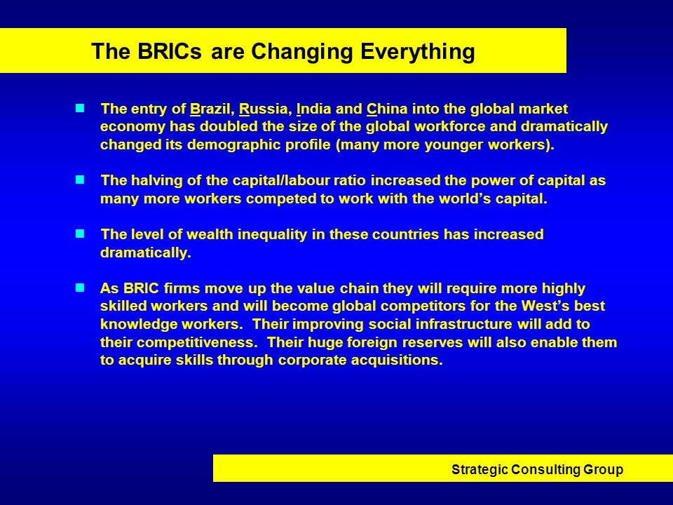 The BRICs are Changing Everything