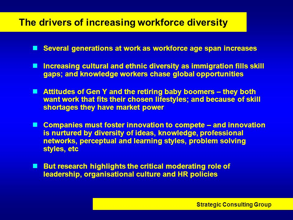 The drivers of increasing workforce diversity