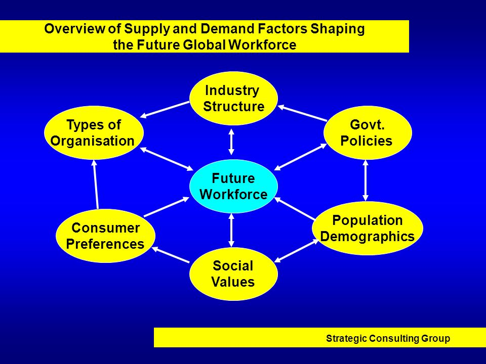 Overview of Supply and Demand Factors Shaping the Future Global Workforce