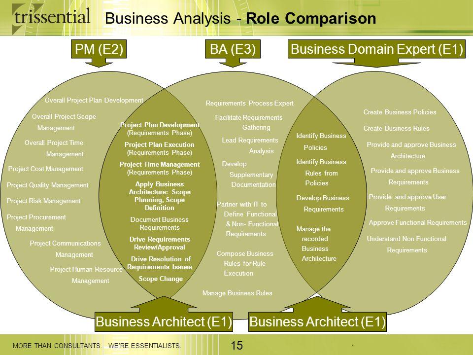 Business Analysis - Role Comparison