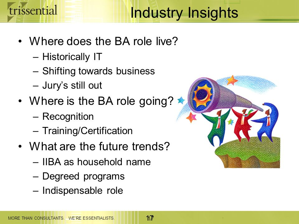 Industry Insights Where does the BA role live