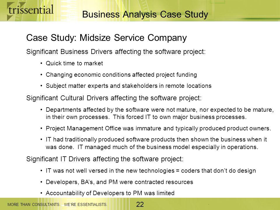 Business Analysis Case Study