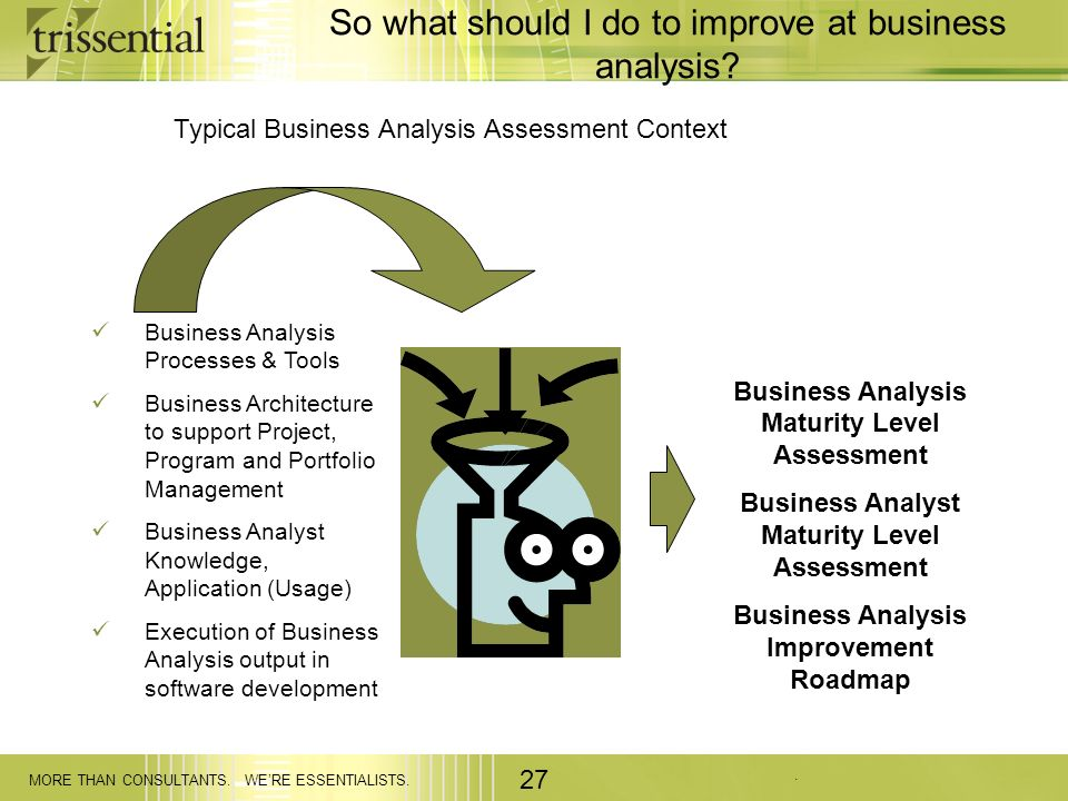 So what should I do to improve at business analysis